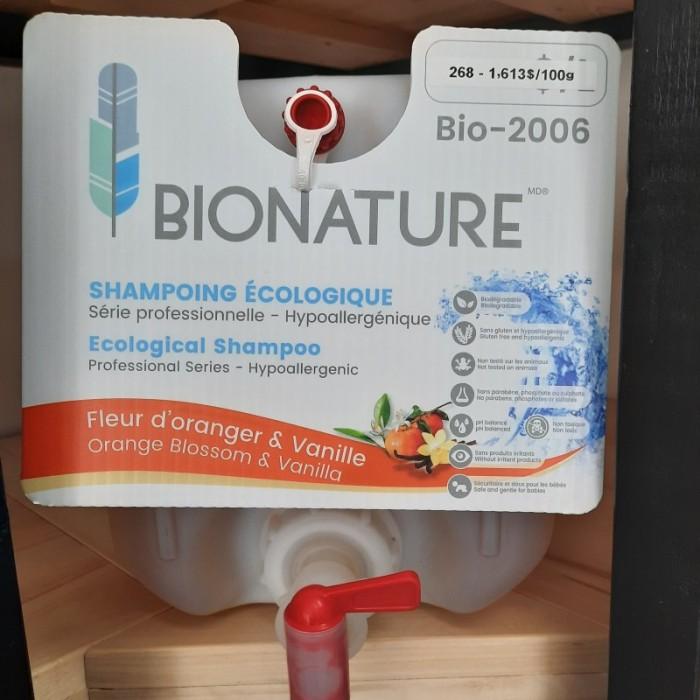 Shampoing écologique fleur d'oranger & vanille