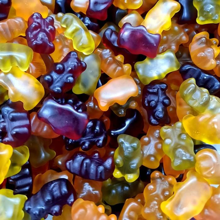 Oursons en gelée fruitée sans gélatine naturels et vegan